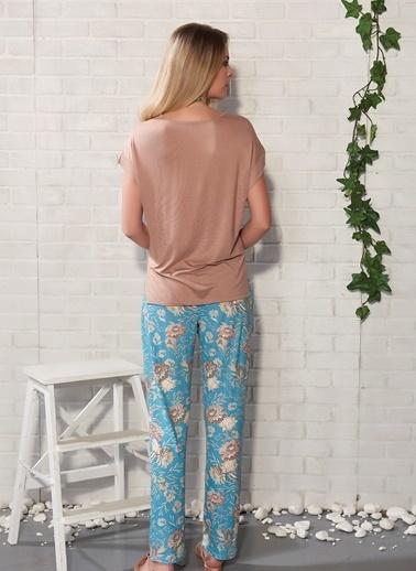 Gizzey Pijama Takım Kahve